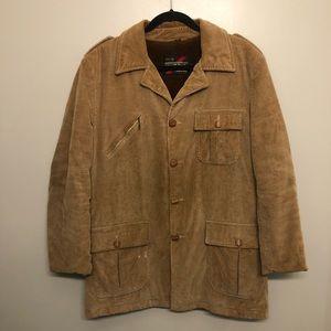 Sears corduroy winter jacket tan vtg 80s rare 42